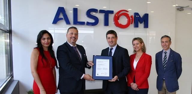 Entrega certificado ISO 45001 Alstom España