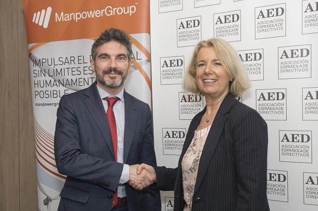 ManpowerGroup y la AED firman un acuerdo de colaboración para potenciar y desarrollar el Talento directivo